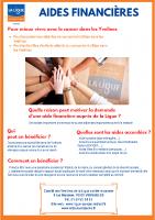 Flyer Aides Financières Ligue Cancer 78